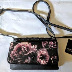 Vera Wang envelope crossbody bag purse floral